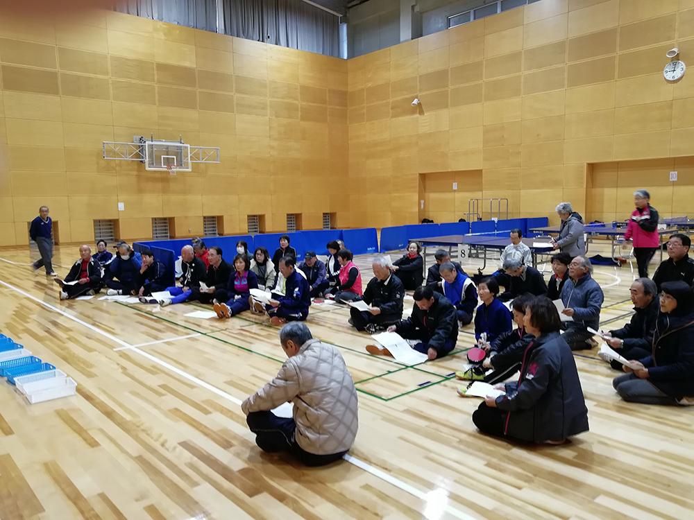 開会式 平日エンジョイ卓球大会
